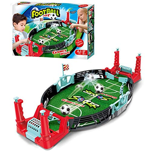 Jannyshop Tabletop Soccer Game Set Mini Football Table Arcade Fun Game Equipment Family Games for Kids Adult