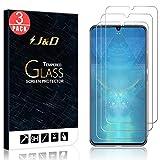 J&D Compatible para Lenovo Z6 Pro Protector de Pantalla, 3 Paquetes [Vidrio Templado] [NO Cobertura Completa] Cristal Templado Protector de Pantalla para Lenovo Z6 Pro
