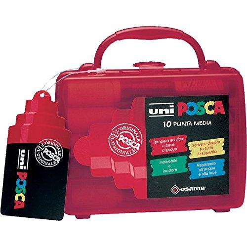 UNI POSCA punta media valigetta 10 pezzi colori assortiti