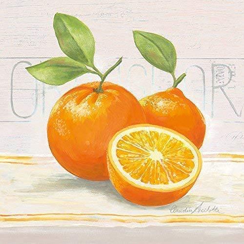 Leinwand-Bild - Claudia Ancilotti: Sweet Orange 20 x 20 cm