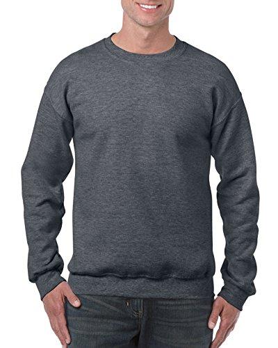 Gildan Crewneck Sweatshirt Camisa, Dark Heather, XL para Hombre