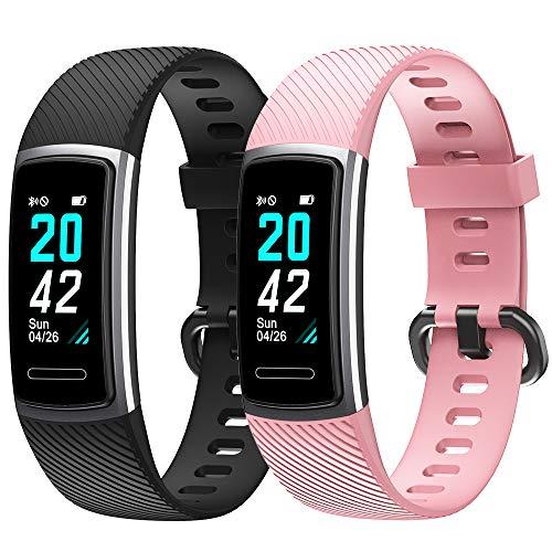 Flenco armband für ID152 / ID152HR Fitness-Tracker, band für ID152 / ID152HR Aktivitätstracker Smart Watch, Schrittzähler, Herzfrequenzmesser, Kalorienzähler