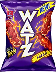SHOCK THINGS UP with WATZ! Watz are lightning bolt shaped, cheesy snacks that combine the perfect crunch with electrifying flavors! Enjoy at school or with friends and shock things up! FUEGO FLAVOR: Don't say we didn't warn you! Hot and spicy with an...
