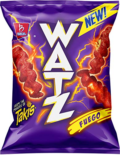 Barcel Watz Fuego - Cheese Flavored Puffs, Box of 10 Individual Bags