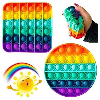 Pop It Sensory Fidget Toy,Push pop Bubble Sensory Fidget Toy, Silicona Sensorial Fidget Juguete, Juguete sensorial Push Pop It Bubble Fidget Pop Juguetes Antiestrés Sensorial (Random Shape) de SamuraiX