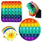 Pop It Sensory Fidget Toy,Push pop Bubble Sensory Fidget Toy, Silicona Sensorial Fidget Juguete, Juguete sensorial Push Pop It Bubble Fidget Pop Juguetes Antiestrés Sensorial (Random Shape)