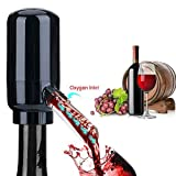 Electric Wine Air Aerator Automatic Wine Dispenser Pourer Aerator, Wine Breather Decanter,Battery Operated One-Touch Wine Decanter Aerator