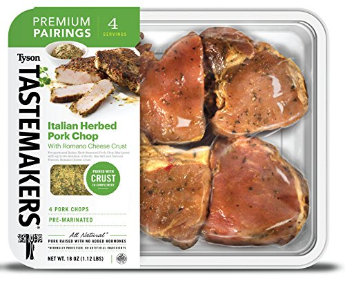 Tyson Tastemakers Premium Pairings Italian Herbed Pork Chops with Romano Cheese Crust, Serves 4