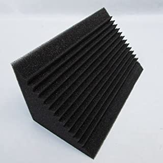 JJZXD 12 Pcs Sound-Absorbing Foam Board,bass Trap Wedge-Shape Brick,Sound-Absorbing Foamsoundinsulationtreatment,12x12x24cm