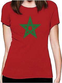 Effet Us/é Fashion Sweatshirt Capuche Homme Drapeau du Maroc