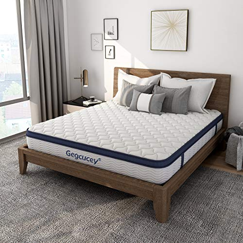 Twin Mattress, Gegcucey 10 Inch Hybrid Innerspring Mattress in a Box, Ergonomic Design with Breathable Foam and Pocket Spring Mattress Twin Size - Box Top Series Medium Plush Feel