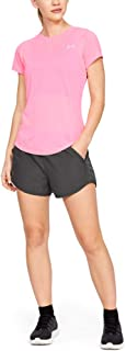 Under Armour Women's Fly By Running Shorts, Grey (044)/Reflective, X-Large