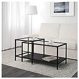IKEA Vittsjö - Juego de 2 mesas nidas, Color Negro y marrón