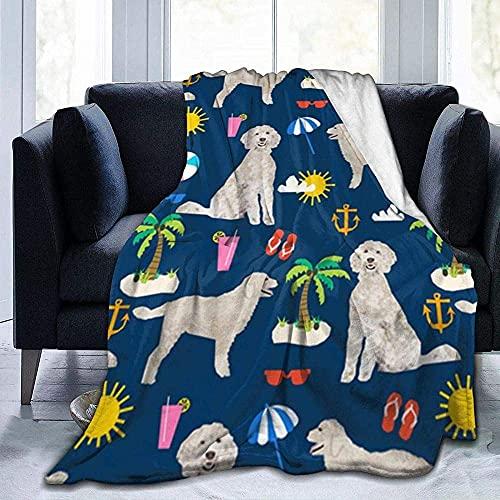 Colcha de calidad cálida y suave y versátil para sofá, con forro polar súper cálido, para playa, verano, para dormitorio, sala de estar, sofá, cama, sofá de 152 x 127 cm