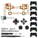 eXtremeRate Knöpfe für PS4 Tasten Buttons D-Pad Steuerkreuz Thumbsticks DTF LED Kit für Playstation 4 Controller(Symbols Leuchttaste)