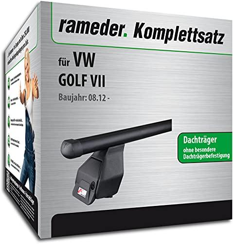 Rameder Set, Dachträger Tema kompatibel für VW Golf VII (118766-10585-19)