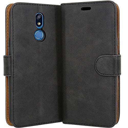 """Case Collection Funda de Cuero para LG K40 (5,7"""") Estilo Cartera con Tapa abatible y Ranuras para Dinero y Tarjeta de crédito para LG K40"""
