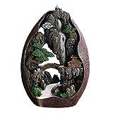 DXTY Supporto per Bastoncini di Incenso in Porcellana Artigianale, Supporto per Incenso con Riflusso A Cascata in Ceramica in Resina, Ornamento per Aromaterapia Decorazioni per La Casa