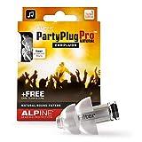 Alpine PartyPlug Pro Tapones auditivos lineales filtrados para Fiestas, festivales de música y conciertos - Atenuación lineal - Gran calidad musical - Cómodos e hipoalergénicos - reutilizables