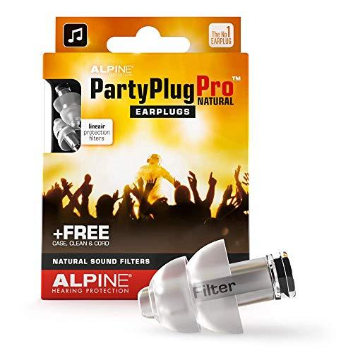 Alpine PartyPlug Pro Oordoppen met Natuurgetrouwe demping voor feesten, muziek, festivals, disco en concerten - Voorkomt gehoorschade - Perfecte muziekkwaliteit - Hypoallergeen - Herbruikbaar