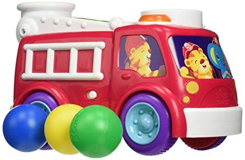 Bright Starts Having a Ball Pop n Roll School Bus and Fire Truck Assortment Jouet