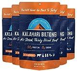 Original Kalahari Biltong, Air-Dried Thinly Sliced Beef, 2oz (Pack of 5), Sugar Free, Gluten Free, Keto & Paleo, High Protein Snack