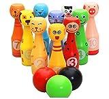 E-Kauf mini Tier Bowlingkugel Kegelspiel Bowling-Set für Kinder ab 2