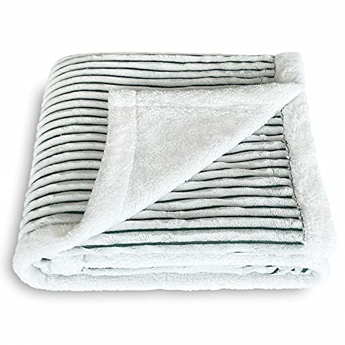 SOCHOW - Manta de forro polar a rayas, muy suave y cálida, manta de felpa para sofá, sillón o cama