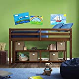 Better Homes and Gardens Twin Loft Storage Bed with Spacious Storage Shelves in Mocha