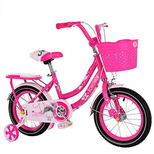 MAZHONG Bicicletas Bicicleta para niños Pink 1-Speed Color Coordinated Spoke Wheels Protector de cadena completamente cerrado y freno Easy Reach en muchos tamaños ( Color : A , Tamaño : 14 inch )