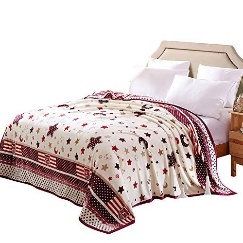GSDJU Manta de franela súper suave, acogedora manta para sofá