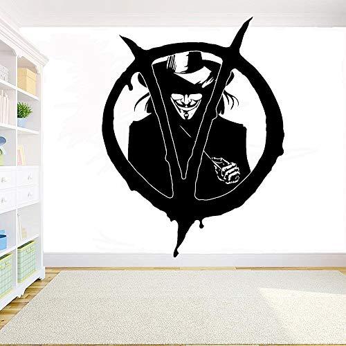 Geiqianjiumai woord Vendetta wandtattoo Home Interior Design slaapkamer decoratie Movie Hero verwijderbare muurkunst