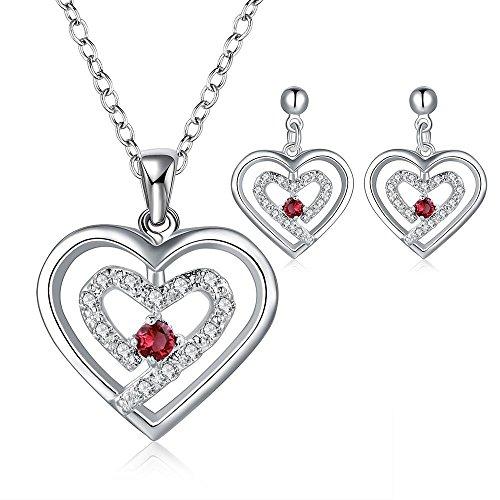 Eenvoudige zilveren ornamenten rode hart-vormige dagelijkse dames pak, champagne goud