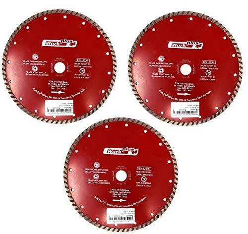 Toolzy 100034B5 - Disco de corte de diamante (5 unidades, 230 mm, EN13236)