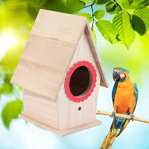 Fdit Candlenut Bird House étanche à l'humidité nids d'oiseaux Maison Birdcage Birds Chaleur Reproduction Boîte de Repos Accessoires (20x15x13cm)