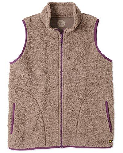 Life is good Women's Sherpa Zip Jacket (Mocha Brown), Large