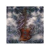Serviettes souples en tissu lavable Jazz Rock Cool guitare électrique pour garçon Serviettes imprimées 20 X 20 pouces pour les dîners de famille, mariages, cocktails, décoration de vaisselle de cuisi