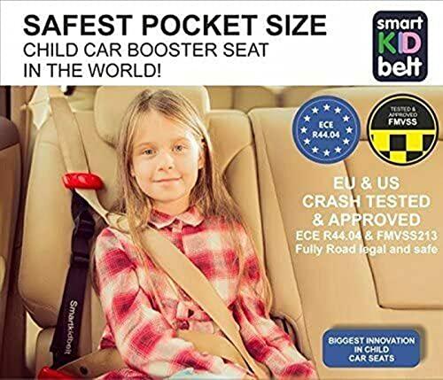 Smart Kid Belt Safest Pocket Size Child Restraint System Car Booster Seat Group 2/3 for Kids Ages 5-12 Years Old U.S & EU Crash Tested & Approved