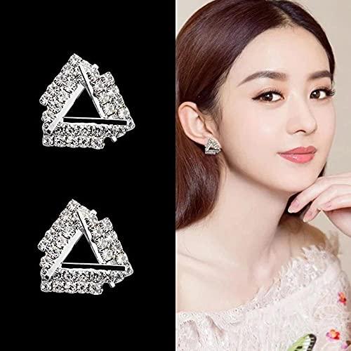 bjyxszd Regalo Cumpleaños Mujer, Pendientes, Pendientes Personalizados de Dos Desgaste, Oreja de Aguja de Plata S925-E0055 Silver Calidad Silver Aguja