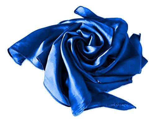 Your Silk Shop Nickituch/Seidentuch 1 A Qualitat unifarben Made in Thailand, 55x55cm, Blau