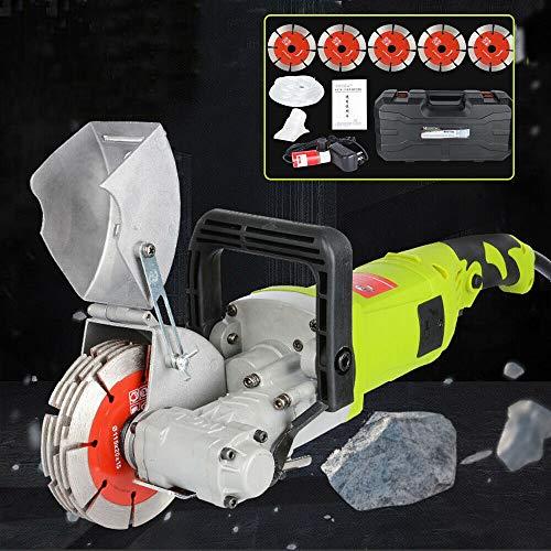 Elektrischer Wandjäger - 4000W Elektrischer Wandjäger Rillenschneidemaschine, professioneller Wandschlitzsägenschneider für Ziegel Granit Marmor Betonschneider Notcher Groover 7500r / m
