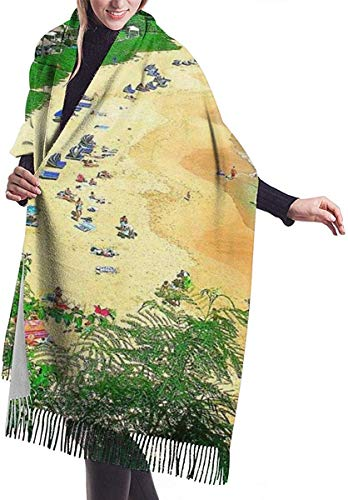 Hoswee Damen Winterschal,Schals Nackenwärmer Honua Kai Maui Beach Shawls And Wraps For Gifts Evening Dress Scarves