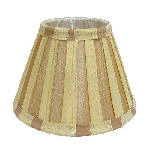 Better & Best lampenkap van zijde, smal, 20 cm, tweekleurig, taupe en beige gestreept