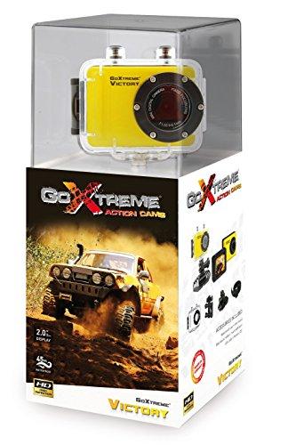 GoXtreme 20109 Victory HD Action Camera met waterdicht (5 cm (2 inch) display, 720p, 1,3 megapixel, CMOS-sensor, microSD-kaartsleuf, USB, Li-Ion accu) geel