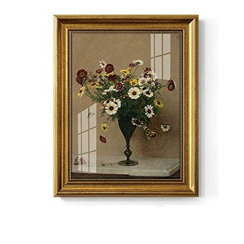 Pintura decorativa gruesa pintura al óleo tela de algodón Jane estilo europeo E1 3mm pasta negro alta tablero exterior adecuado para sala de estar dormitorio estudio tamaño 45*60cm
