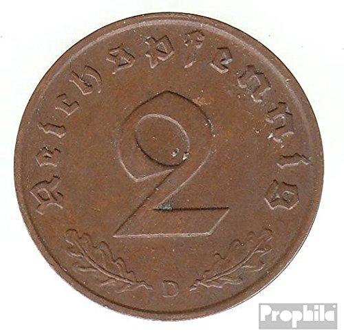 Deutsches Reich Jägernr: 362 1939 A sehr schön Bronze sehr schön 1939 2 Reichspfennig Reichsadler (Münzen für Sammler)