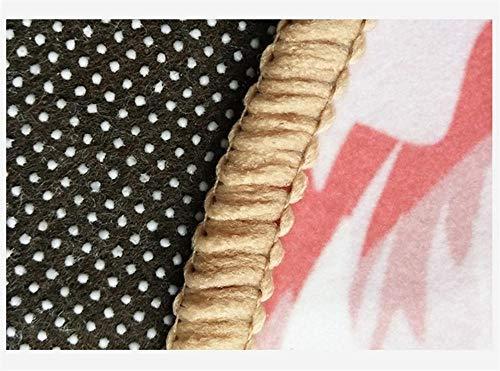 Moqueta Negra Alfombra de Mosaico Azul y Blanco, Dormitorio, Sala de Estar, Sala de niños, Alfombra Alfombras Naturales Liquidacion Alfombras Azul y Blanco 160X230CM