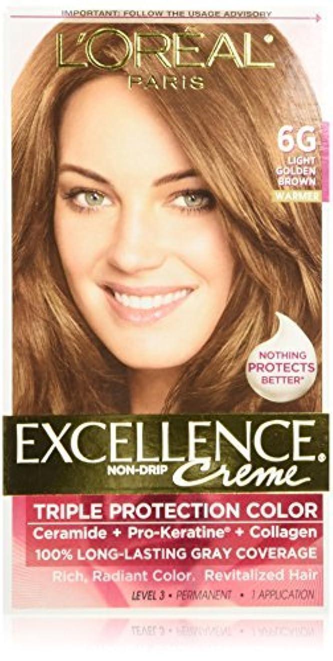 おとなしい時間とともにご飯L'Oreal Excellence Triple Protection Color Cr?Eze Haircolor, 6G Light Golden Brown by L'Oreal Paris Hair Color [並行輸入品]