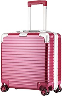 """XLHJFDI Expandable Cabin Luggage Suitcase,PC,Wheel Carry On Hand Luggage,Anti-Scratch Wear Resistant,18"""" (Color : Red)"""