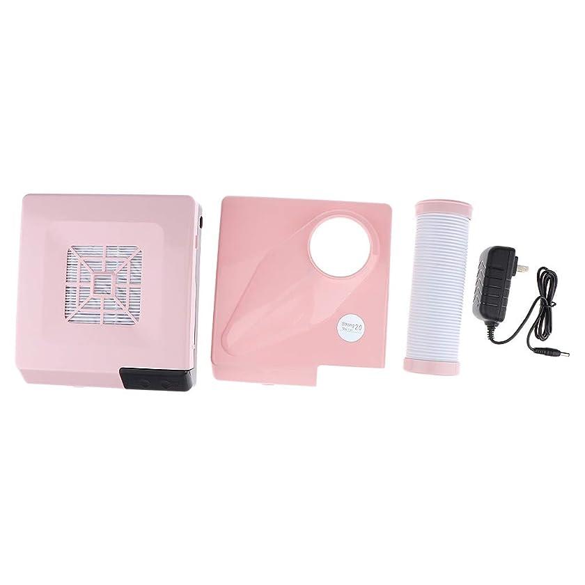 シリンダーあからさまつづりP Prettyia ネイルダストコレクター 60W 吸引パイプ LEDスポットライト 2色選べ - ピンク